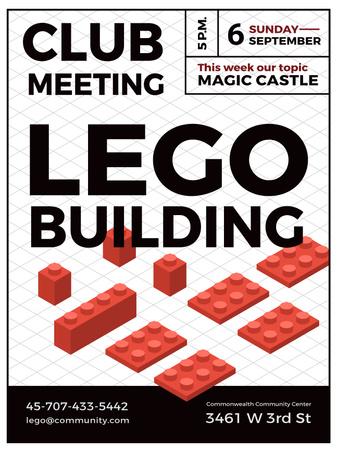 Designvorlage Lego Building Club Meeting für Poster US