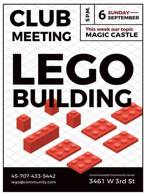 Lego Building Club Meeting Poster US Design Template