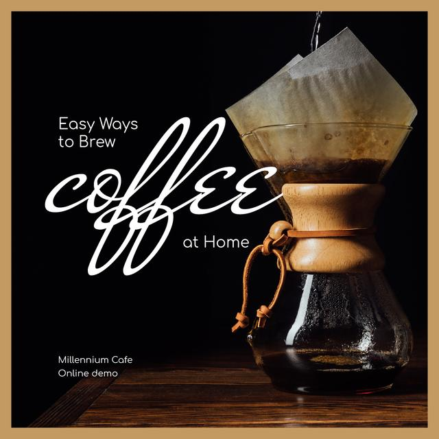 Ways to brew Coffee at Home Instagram Modelo de Design