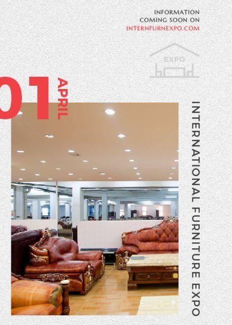 Plantilla de diseño de Furniture Expo invitation with modern Interior Flayer