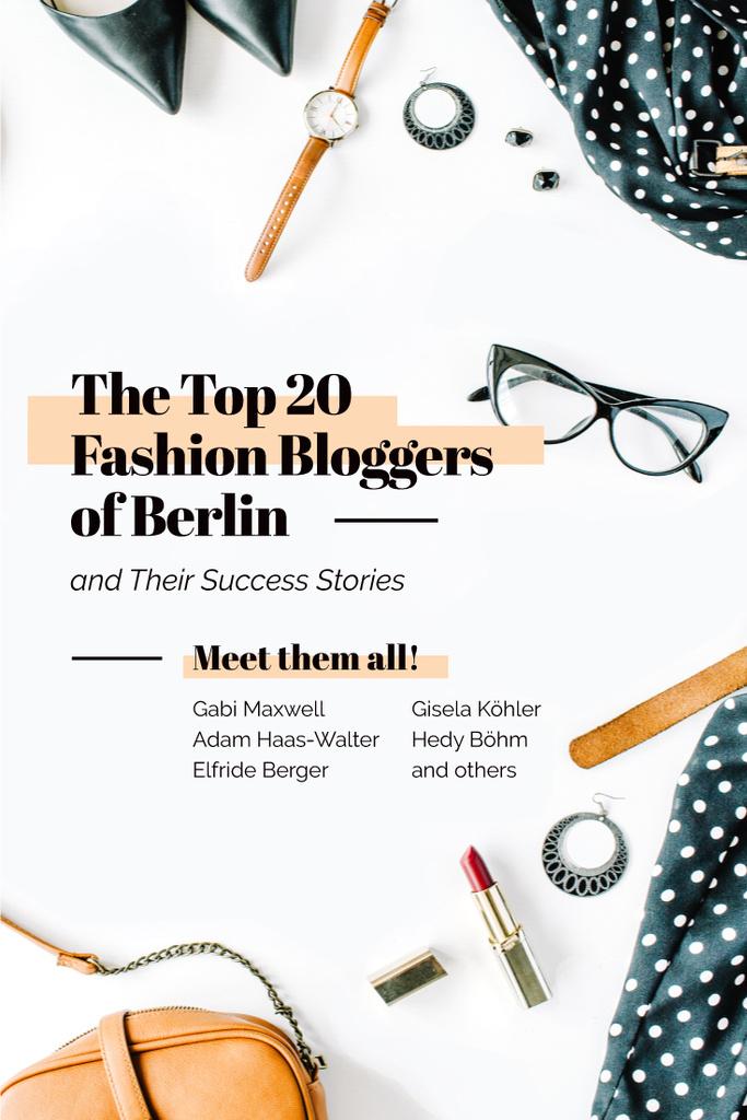 Meeting of fashion bloggers poster — Створити дизайн