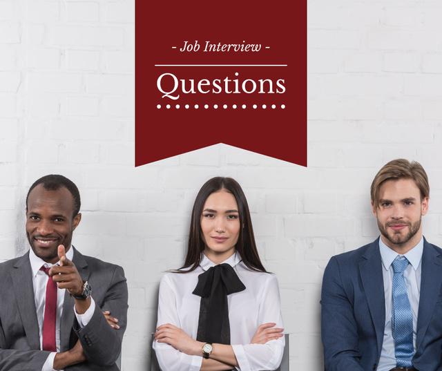 Ontwerpsjabloon van Facebook van Business people waiting for Job Interview