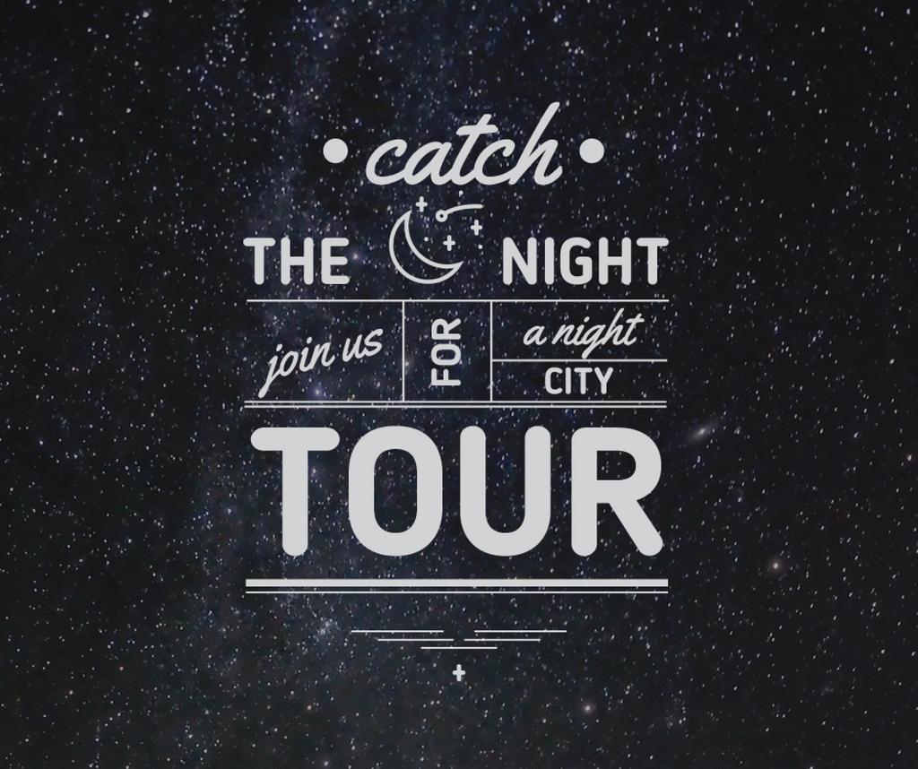 Night city tour invitation on Starry sky — Crea un design