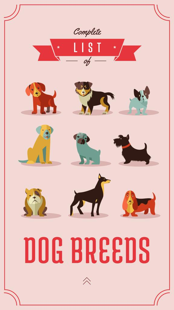 Different dog breeds — Create a Design
