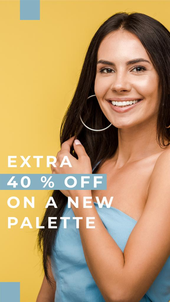Clothes Shop Ad Woman in blue Dress — Crea un design