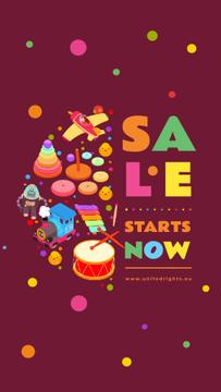 Children's Goods Sale Toys and Musical Instruments | Vertical Video Template
