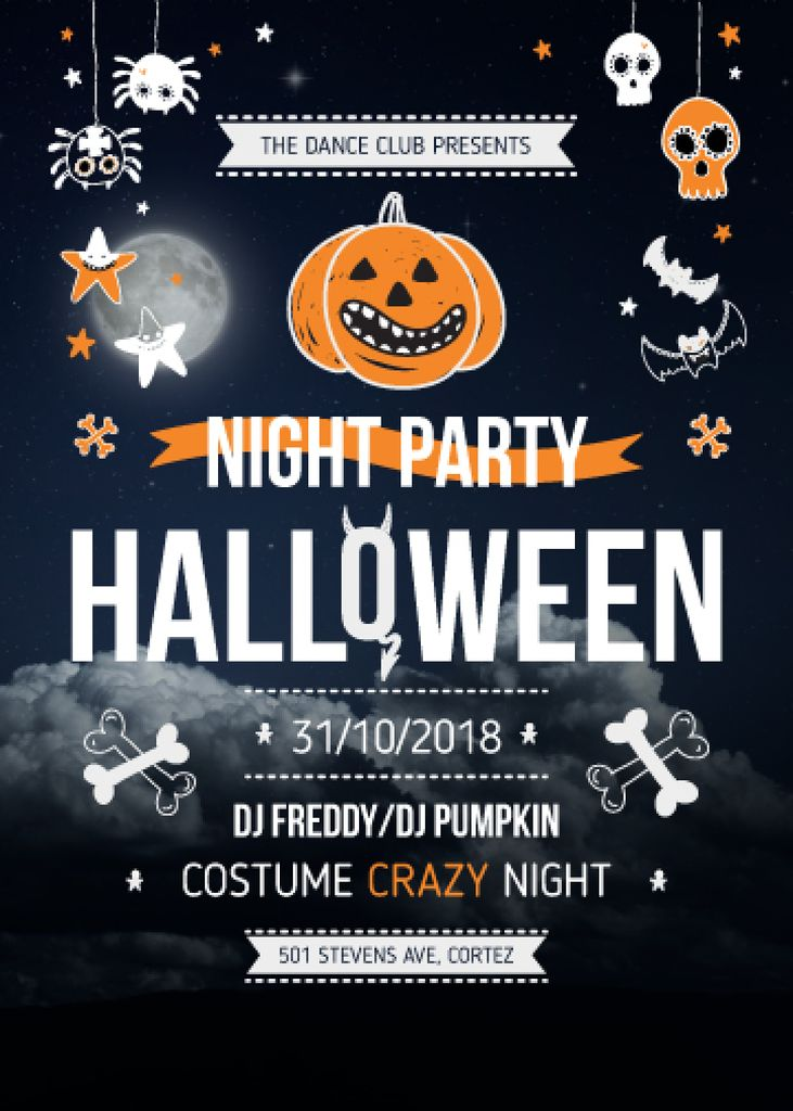 Halloween Night Party Scary Icons —デザインを作成する