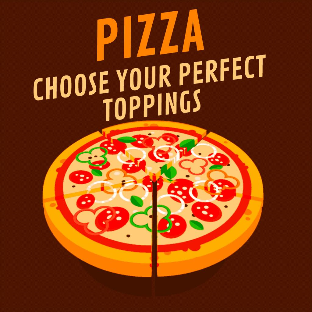 Plantilla Pizza choose your perfect toppings illustration ...