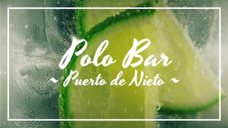 Modèle de visuel Bar Invitation Lime Slices in Glass with Mojito - Full HD video