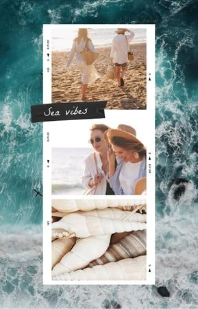 Ontwerpsjabloon van IGTV Cover van Young Women by the Sea