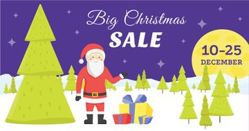 Big Christmas sale card