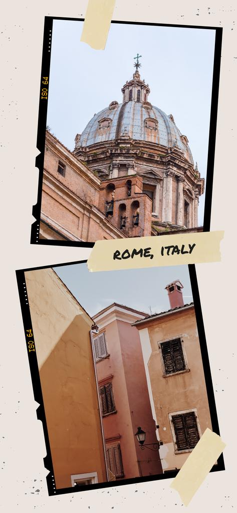 Rome old buildings view — Crear un diseño