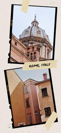 Rome old buildings view Snapchat Geofilter Modelo de Design
