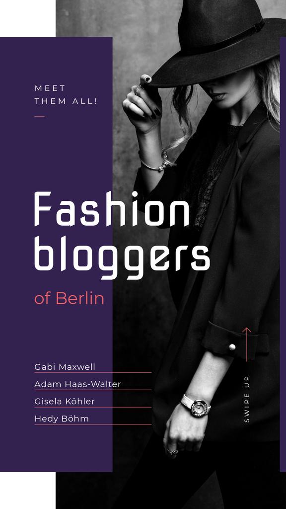 Stylish woman in black clothes – Stwórz projekt