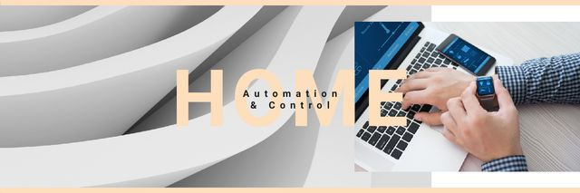 Template di design Smart home app on watch Twitter