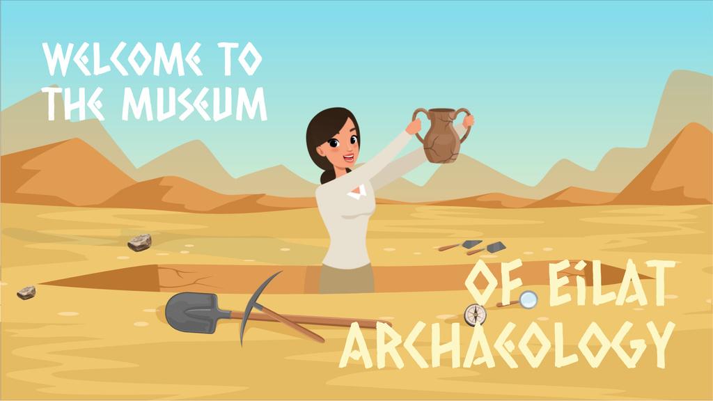 Archaeologist discovering ancient vase — Crear un diseño