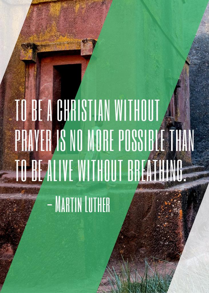 Christian Religion Quote on Church background — Crea un design