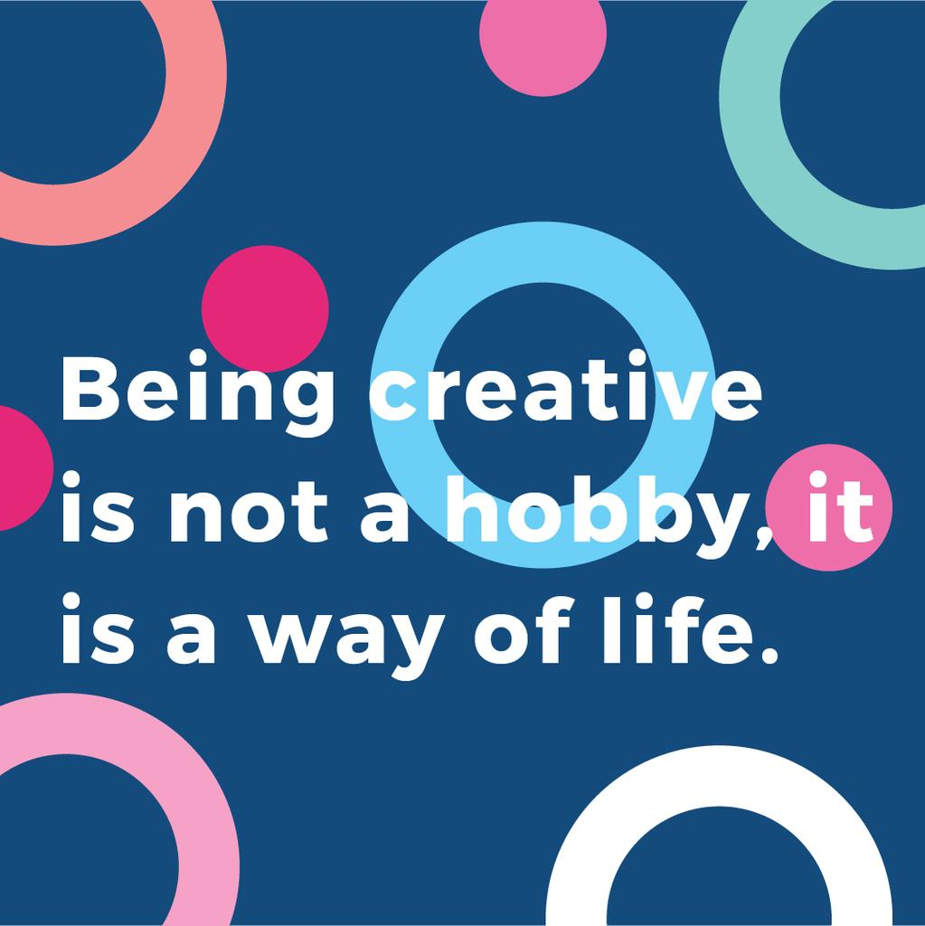 Citation about how to be a creative — Maak een ontwerp
