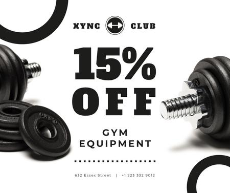 Modèle de visuel Gym Equipment Sale with Dumbbells - Facebook