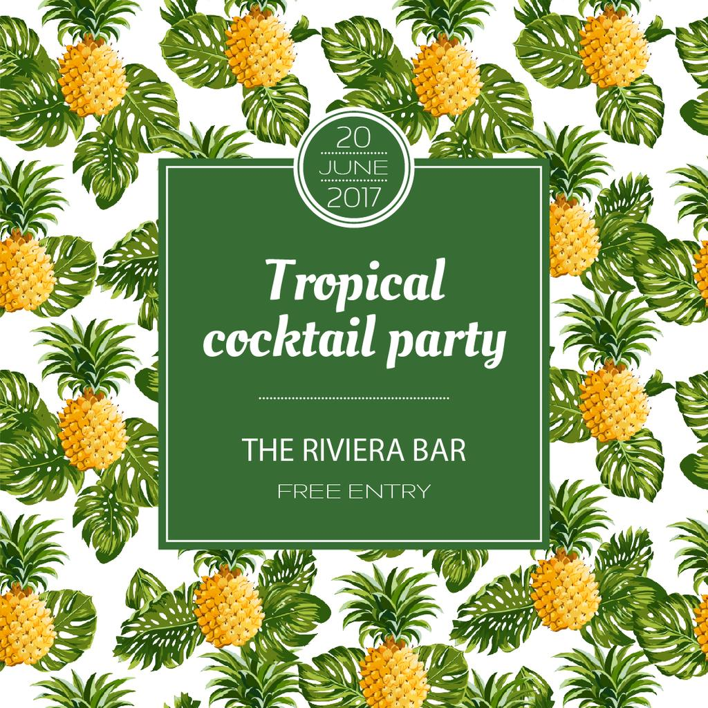 Tropical cocktail party poster — Créer un visuel