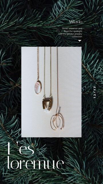 Plantilla de diseño de Accessories Offer Pendants and Necklaces Instagram Video Story