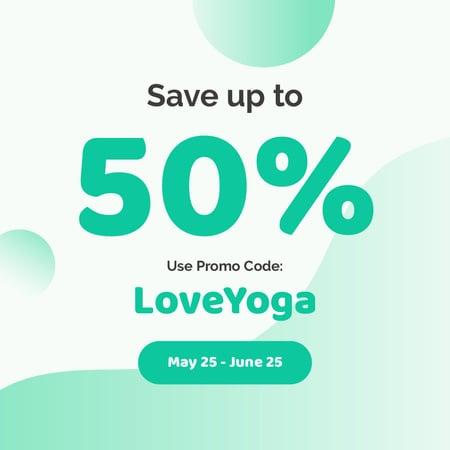 Plantilla de diseño de Special Yoga Discount Instagram AD