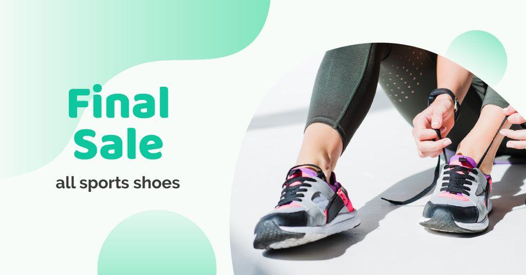 Sport Shoes Sale Facebook AD Modelo de Design