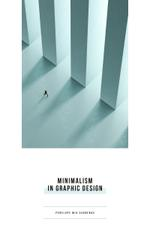 Graphic Design Man Walking by Columns