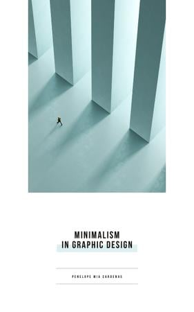 Szablon projektu Graphic Design Man Walking by Columns Book Cover