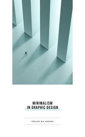 Graphic Design Man Walking by Columns Book Cover Modelo de Design