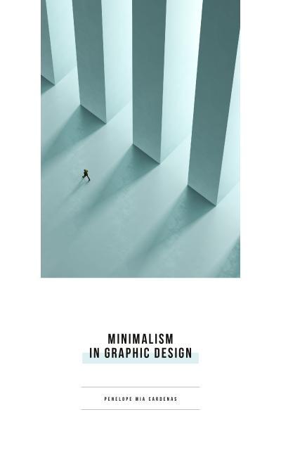 Graphic Design Man Walking by Columns Book Cover Design Template