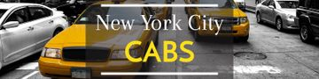 New York city cabs banner