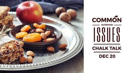 Nutrition Guide with dried Fruits and Nuts FB event cover Modelo de Design