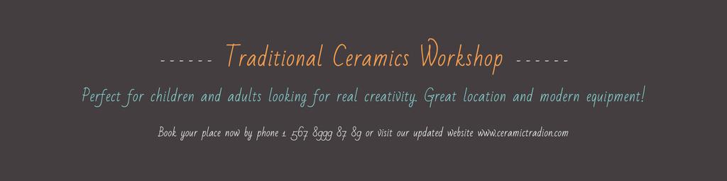 Traditional Ceramics Workshop Announcement — Maak een ontwerp