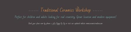Plantilla de diseño de Traditional Ceramics Workshop Announcement Twitter