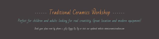 Traditional Ceramics Workshop Announcement Twitter Modelo de Design