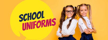 Modèle de visuel Back to School Offer Schoolgirls in Uniform - Facebook cover