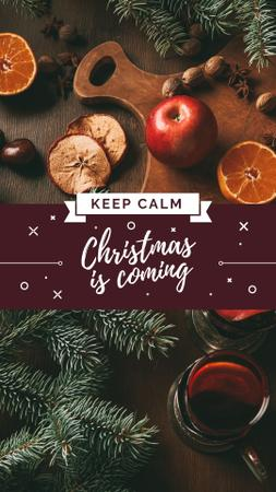 Cooking Christmas mulled wine Instagram Story Modelo de Design