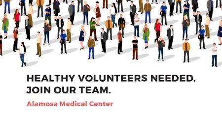 Volunteering Invitation with Crowd illustration Facebook AD – шаблон для дизайну