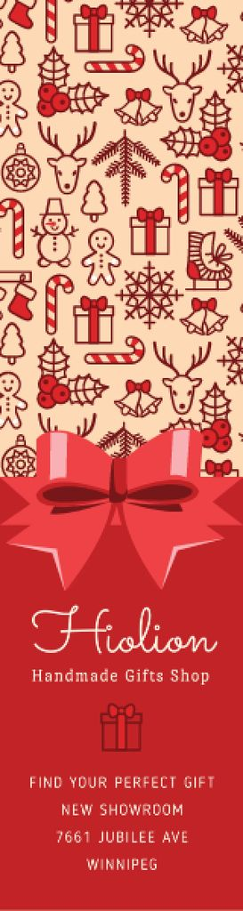 Christmas celebration icons Skyscraper – шаблон для дизайна