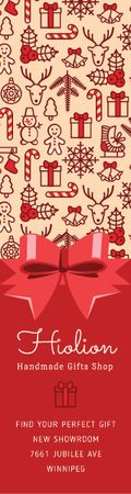 Template di design Christmas celebration icons Skyscraper