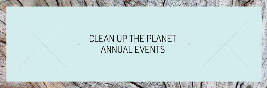 Plantilla de diseño de Clean up the Planet Annual event Email header