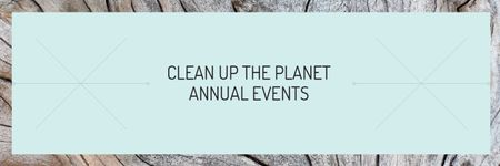 Plantilla de diseño de Clean up the Planet Annual event Email header
