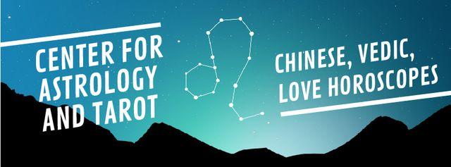 Night Sky with Leo Constellation Facebook Video cover – шаблон для дизайну