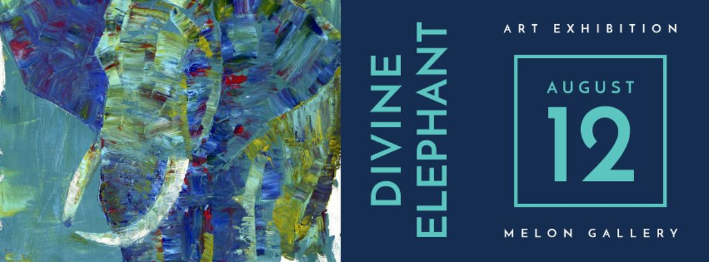 divine elephant exhibition poster — Create a Design