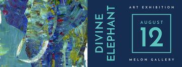 divine elephant exhibition poster