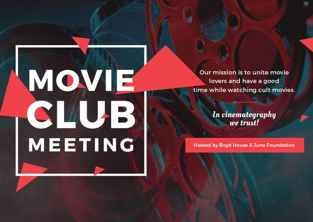 Movie Club Meeting Vintage Projector — Crea un design