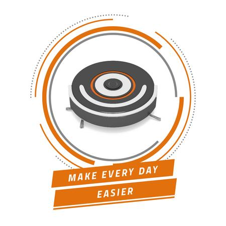 Template di design Robot vacuum cleaner promotion Instagram AD