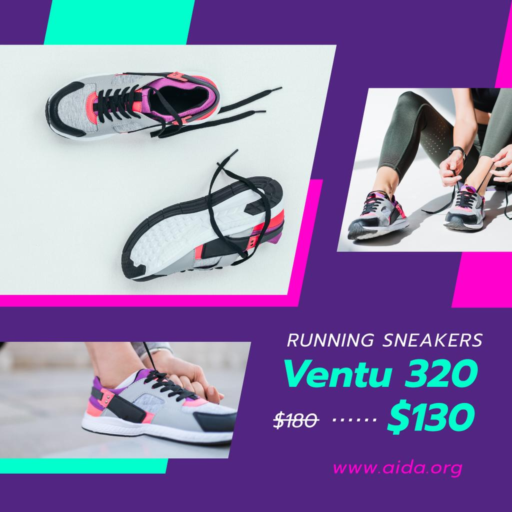 Shoes Sale Runner in Sneakers — Create a Design