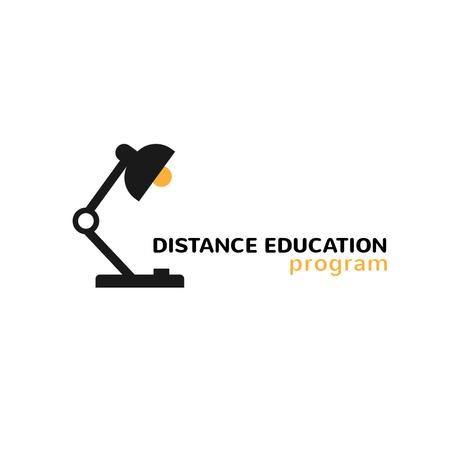 Education Program with Lamp Icon Logo – шаблон для дизайна